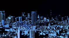 TOKYO CITY SYMPHONY | Video mapping on Tokyo scale model for 10 years anniversary of Roppongi