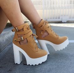 Booties True to size Wild Diva Shoes Ankle Boots & Booties High Heel Boots, Heeled Boots, Bootie Boots, High Heels, Ankle Boots, Fashion Boots, Sneakers Fashion, Swag Fashion, Color Fashion