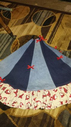 tree skirt out of denim