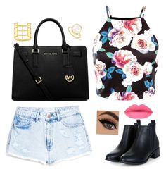 """""""Rich School"""" by ox-marcie-xo on Polyvore featuring MANGO, MICHAEL Michael Kors, BaubleBar, women's clothing, women's fashion, women, female, woman, misses and juniors"""