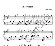 In My HeartSheet Music - Ernesto Cortazar