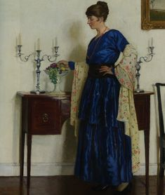 Portrait of the Artist's Wife, Harold Harvey