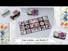 Tutoriel-Vidéo { Boite } Une carte..... en boite !! par Évasions Créatives - YouTube Pop Up, Stampin Up, Scrapbooking, Sachets, Frame, Albums, Decor, Cartonnage, Gift Ideas