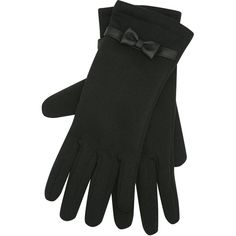 M&Co Bow Cuff Gloves (38 PLN) ❤ liked on Polyvore featuring accessories, gloves, black and bow glove