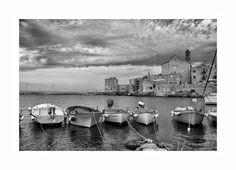 Porto di Giovinazzo b&w. Ph Mauro Germinario. Digital, Ph, Porto, Fotografia