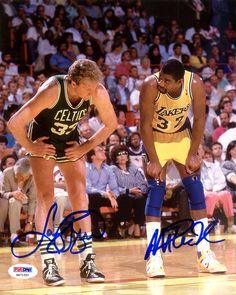 f9f1733dd6e Magic Johnson   Larry Bird Autographed 8x10 Photo PSA DNA ITP Stock  119622