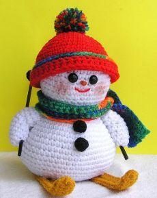 Вязаный снеговик крючком, фото, инструкция