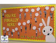 You're Finally Here! by Melanie Watt~ Back to school bulletin board