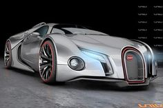 The next generation #Bugatti #Veyron. Holy crap. This just looks like it wants to run you down and eat you. xD
