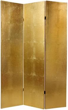faux leather gold crocodile room divider modern screens and wall dividers oriental furniture cullison