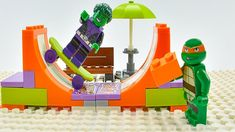 Lego TMNT Mikey and Beast Boy make Skate Park Ninja Turtles Mikey and Teen Titans Go Beast Boy make their own skate park. After this teenage mutant ninja turtles Donnie make pizza car. Lego Hulk, Lego Batman, Spiderman, Lego Ninja Turtles, Teenage Mutant Ninja Turtles, Lego Teen Titans Go, Tmnt Mikey, Lego Iron Man, Lego For Kids