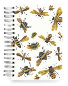 Bees Buzzing PERSONALIZED Jumbo Journal Save Yourself, Create Yourself, Stationery Design, Paper Design, Bees, Your Design, Whimsical, Just For You, Watercolor