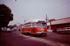 SEPTA ALL ELECTRIC PCC RUNNING ON RT.6 OGONTZ AVE. PHILA.1977