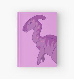 Parasaurolophus Hardcover Journal #dinosaurs #jurassic #pink #parasaurolophus #hadrosaur