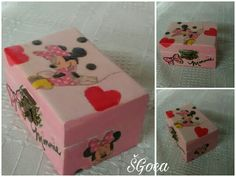 Decoupage on small box. Decoupage Box, Small Boxes, Hand Painted, Gifts, Ideas, Manualidades, Little Boxes, Presents, Gifs