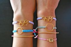 Easy DIY Macrame Bracelets with Nylon Cord OR Waxed Cotton Cord | Super Easy Tutorial - Personal Favorite!