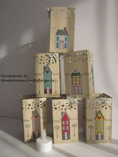 SU - Luminarias using Holiday Home and the new star border punch. More pictures, template and details in the post.