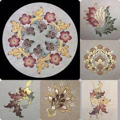 Ezhar/flowers - picture for you Islamic Art Pattern, Pattern Art, Garden Drawing, Garden Art, Arabesque, Motifs Islamiques, Art Arabe, Illumination Art, Mandala Drawing