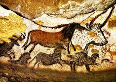 The Amazing Cave Art of Lascaux, France. Grade Level: High School Art ( ) Lesson Objective: Learners will demonstrate knowledge. Art Rupestre, Art Du Collage, Lascaux, High School Art, Art Plastique, Ancient Art, Art Lessons, Cave, Moose Art