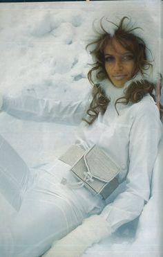vintage ski fashion - Veruschka by Rubartelli Vogue 1968
