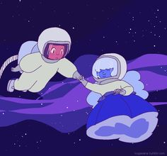 Ruby & Sapphire - space babes