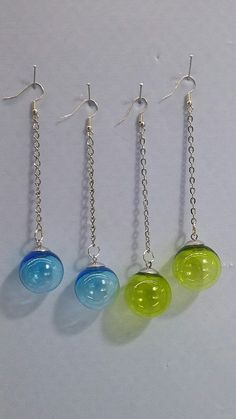 Murano Glass hollow beads earrings by A.G.