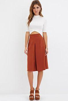Pleated Knee-Length Skirt | Forever 21 - 2000178864