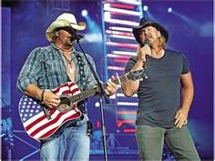 Toby Keith and Trace Adkins @ San Diego, CA - Aug. 7, 2010. Warm-up -James Otto.