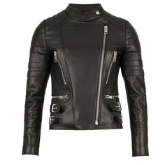 The LXLS collection Perfect Leather Jacket in black. 100% lambskin, made in Seoul.