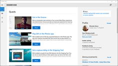 Screenshot of Insider Hub app
