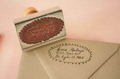love this custom stamp