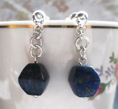 New earring model Blue Sky. Silver 950 and stone Lapis Lazuli.  #HandMade