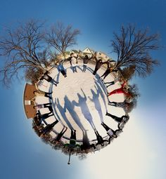 Little planet panoramas idea for my photography class! you always have s circle of friends whether they are with you or not!