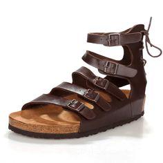 super popular c53fd 1ca43 Tienda Online 2016 hombres del verano gladiador sandalias de diseño moda  zapatos romanos para hombres de corcho zapatillas de cuña chinelo  masculino, ...