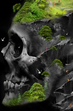 Image result for earth made of bones art