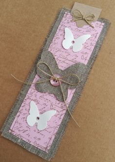 Creative Bookmarks, Paper Bookmarks, Scrapbooking Original, Diy Marque Page, Nursing Home Crafts, Pocket Letter, Jw Gifts, Book Markers, Handmade Gift Tags