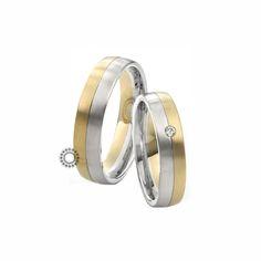 Βέρες γάμου Saint Maurice 81202 & 81203 - Συλλογή TWIN SET - Ανατομικές βέρες μισές χρυσές μισές λευκές | Κοσμηματοπωλείο ΤΣΑΛΔΑΡΗΣ στο Χαλάνδρι #βέρες #βερες #γάμου