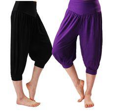 2016 Fashion Summer Women s Ladies Modal Harem Capris Yoga Elastic Waist Short Pants Wide Leg on http://ali.pub/imayq