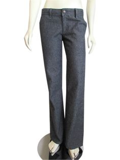Habitual Flared Trouser Jeans in Indigo Tweed