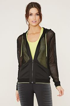 Active Hooded Mesh Jacket - Activewear - Jackets + Hoodies - 2000151648 - Forever 21 EU English