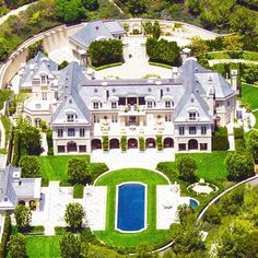 Denzel Washington's massive Beverly Hills estate.