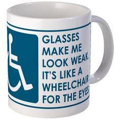 VEEP: Glasses Mug on CafePress.com