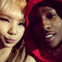 CL & A$AP Rocky!  Photo by chaelin_cl • Instagram