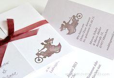 Romatic wedding invitation for motorbike fans! by e-MoVeo Cards Invito matrimonio moto Hochzeitseinladung Motorrad   www.emoveo-cards.com