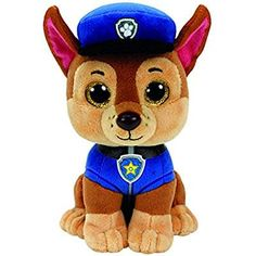 f3b489b83bd Authentic Ty Beanie Boos Paw Patrol Chase Shepard Dog Reg Plush Free Pack  of Paw Patrol Crayons! Affinity Gifts UK