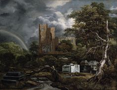 Jacob van Ruisdael – The Jewish Cemetery (1654-1655) My most favorite piece at the DIA