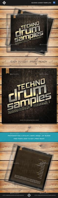 Techno Drum Samples - CD Cover Template