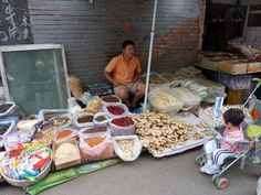 Marktkoopman in Beijing