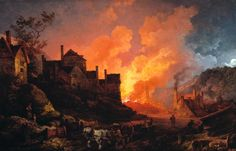 P.J. de Loutherbourg, 'Coalbrookdale by Night', 1801