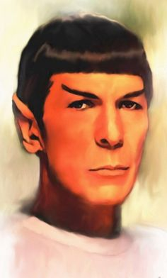I stumbled upon this in Deviant Art. It's a portrait by British painter Ms. Karracaz that captures the spirit of Mr. Spock's profound analytical glance.